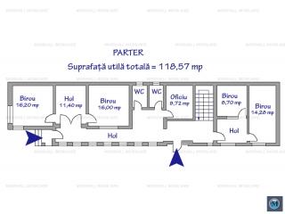 Spatiu  birouri de inchiriat, zona Marasesti, 273.14 mp