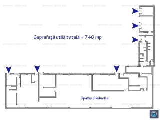 Spatiu industrial de vanzare in Brazi, 740 mp