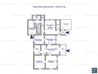 Casa cu 5 camere de vanzare, zona Central, 196 mp