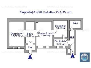 Casa cu 4 camere de vanzare, zona Central, 80 mp