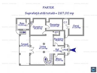 Vila cu 8 camere de vanzare in Snagov, 583.60 mp